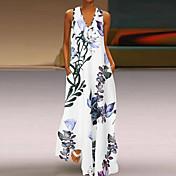 Damen Swing Kleid Blumen Maxi