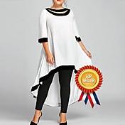 Damen Übergrössen Hülle Kleid Solide Maxi
