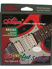 abordables -alice - (ae535c) cuerdas de acero chapado en guitarra eléctrica (009-042)