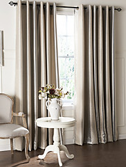 cheap -Custom Made Blackout Curtains Drapes Two Panels  / Embossed / Living Room