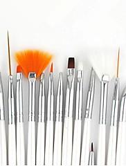 economico -15pcs Legno Kit per unghie artistiche Pennello per unghie in acrilico Per Unghia della mano Unghia dell'alluce Originale manicure Manicure pedicure Classico / stile sveglio Quotidiano