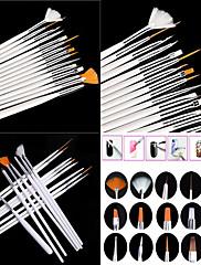 economico -15pcs Legno Nylon Metallo Accessori per nail art Originale Classico stile sveglio Quotidiano Pennello per unghie in acrilico Spazzole per unghie per Unghia della mano Unghia dell'alluce Ombretto