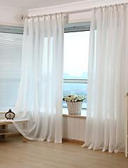 cheap -Jacquard Stripe Sheer Curtain (Two Panel)