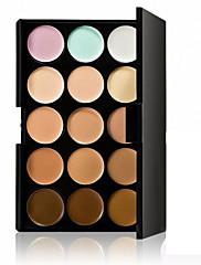 abordables -15 couleurs Crème Correcteur / Contour Sec / Humide / Mélange Respirable / Blanchiment / Correcteur Visage Chine Naturel Maquillage Cosmétique