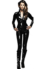 cheap -Men's Women's Assassin Sexy Uniforms Sex Zentai Suits Shiny Zentai Suits Cosplay Costume Solid Colored Leotard / Onesie / Catsuit