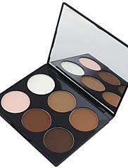 abordables -6 couleurs Poudres Poudre Bronzeurs 1 pcs Sec / Mélange / Huileux Etanche / Respirable / Blanchiment Visage Chine Miroir Maquillage Cosmétique
