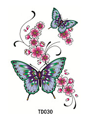 abordables -Los tatuajes temporales Impermeable / 3D Rostro / manos / braquio CLORURO DE POLIVINILO Tatuajes Adhesivos