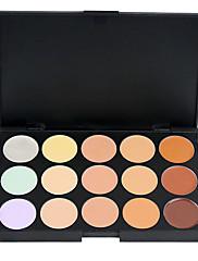 abordables -15 couleurs Poudres Correcteur / Contour 1 pcs Sec / Mélange / Huileux Correcteur Visage Chine Maquillage Cosmétique