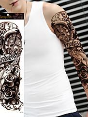 abordables -1 pcs Los tatuajes temporales Impermeable / Non Toxic / Talla Grande Cuerpo / hombro / Pierna Papel Tatuajes Adhesivos