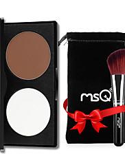 abordables -2 couleurs Poudres Bronzeurs Stabilos Sec / Mat / Mélange Correcteur Visage Chine Maquillage Cosmétique