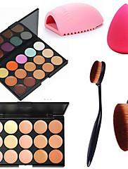 abordables -30 couleurs Correcteur Crème Correcteur / Contour Sec / Humide / Mat Respirable / Blanchiment / Séchage rapide Caisse / Visage Chine Maquillage Cosmétique