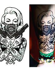 abordables -1 pcs Los tatuajes temporales Desechable braquio / Pierna / Pecho Papel Tatuajes Adhesivos / Pegatina tatuaje