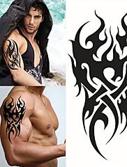 abordables -1 pcs Los tatuajes temporales Impermeable / 3D braquio / Pecho Papel Tatuajes Adhesivos