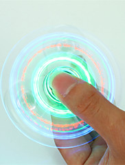 cheap -Fidget Spinner Hand Spinner LED Spinner for Killing Time Stress and Anxiety Relief Focus Toy Office Desk Toys Relieves ADD, ADHD, Anxiety, Autism LED Light Kid's Adults' Boys' Crystal Plastic