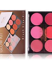 abordables -2 couleurs Set de maquillage Poudre Rougir Sec / Mat Visage Chine Maquillage Cosmétique ABS