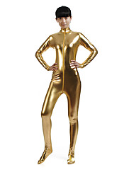cheap -Shiny Zentai Suits Catsuit Skin Suit Ninja Adults' Spandex Latex Cosplay Costumes Sex Men's Women's Solid Colored Halloween Masquerade