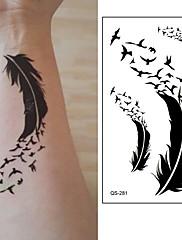abordables -10 pcs Tatuajes Adhesivos Los tatuajes temporales Serie de dibujos animados Artes de cuerpo brazo