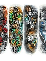 abordables -4 pcs Tatuajes Adhesivos Los tatuajes temporales Serie de dibujos animados Artes de cuerpo brazo