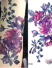 abordables -3 pcs Tatuajes Adhesivos Los tatuajes temporales Series de Flor / Serie romántica Artes de cuerpo brazo