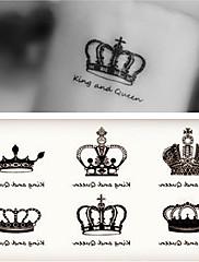 abordables -10 pcs Tatuajes Adhesivos Los tatuajes temporales Serie romántica Artes de cuerpo brazo