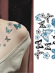 abordables -10 pcs Tatuajes Adhesivos Los tatuajes temporales Series de Animal Artes de cuerpo brazo