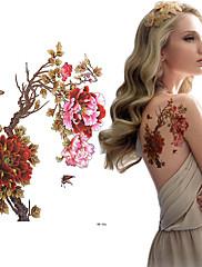 abordables -3 pcs Tatuajes Adhesivos Los tatuajes temporales Series de Flor Artes de cuerpo hombro