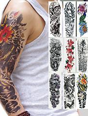 abordables -2 pcs Los tatuajes temporales Seguridad braquio Tinta respetuosa del medio ambiente / Tatuajes temporales estilo calcomanía