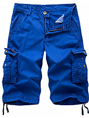 cheap -Men's Streetwear Military Going out Chinos Shorts Tactical Cargo Pants Solid Colored Black Blue Red 30 31 32