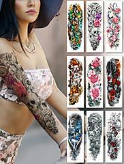 abordables -2 pcs Los tatuajes temporales Adhesivo suave / Seguridad braquio Papel de tarjeta / Tatuajes temporales estilo calcomanía
