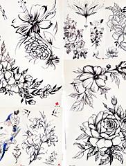 abordables -5 pcs Los tatuajes temporales Adhesivo suave / Seguridad Cuerpo / braquio / hombro Papel de tarjeta / Tatuajes temporales estilo calcomanía