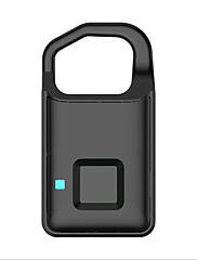 billiga -Zink Alloy Fingeravtryck hänglås Smart Hem Säkerhet Systemet Fingeravtryckslåsning / Låg batteriladdare Hem / Hem / kontor / Sovrum Annat / Säkerhetsdörr / Trädörr (Upplåsningsläge Fingeravtryck)