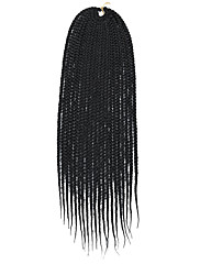 cheap -Straight Hair Care Extension Twist Braids Black Multi-color Synthetic Hair Braids 14-24 inch Braiding Hair 6 Pack / There are 20 roots per pack. Normally five to six packs are enough for a full head.