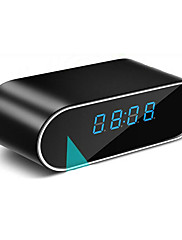 cheap -Clock Hidden Camera With Wifi Round 1 MP 720P IP Camera Indoor Support 32 GB Security Surveillance Camera Motion Detection IR Night Vision Remote Access Phone App