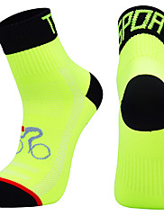 cheap -Compression Socks Athletic Sports Socks Crew Socks Cycling Socks Men's Football / Soccer Cycling / Bike Bike / Cycling Breathable Wearable 1 Pair Winter Solid Color Chinlon Black White Orange M L XL