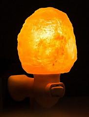 cheap -Himalayan air purifying Salt Lamp Wall Plug Nightlight Yellow Wall Plug Creative 220-240V 1pc