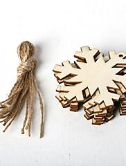 abordables -adornos de madera 10 navidad