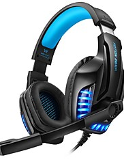cheap -KOTION EACH G9100 Headphone 3.5mm Double Terminal Wired PC Games Headset with Microphone Over The Head Gamers Tool For PC Laptop
