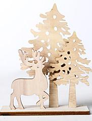 abordables -Adornos Madera 3pcs Navidad