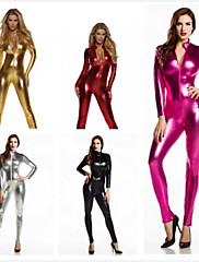 cheap -Zentai Suits Catsuit Skin Suit Motorcycle Girl Adults' Spandex Latex Cosplay Costumes Sex Women's Solid Colored Halloween / Leotard / Onesie / Leotard / Onesie / High Elasticity