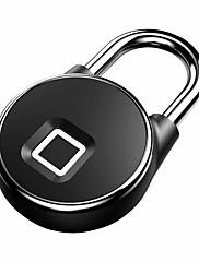 billiga -anytek p22 usb uppladdningsbart smart nyckellöst fingeravtryckslås ip65 vattentät säkerhetshänglås dörr bagageväskelås