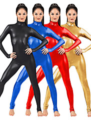 cheap -Zentai Suits Catsuit Skin Suit Motorcycle Girl Adults' Spandex Latex Cosplay Costumes Sex Men's Women's Solid Colored Halloween / Leotard / Onesie / Leotard / Onesie / High Elasticity