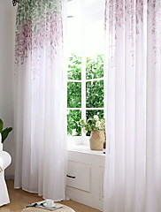 cheap -Contemporary One Panel Sheer Bedroom   Curtains