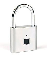 billiga -nya bluetooth fingeravtryck hänglås smart utomhus dörr hänglås bagage lås lager sovsal