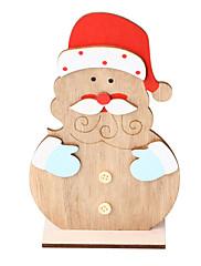 abordables -Adornos Madera 1pc Navidad