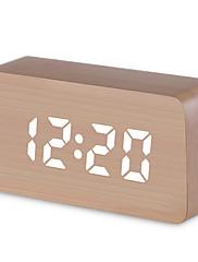 economico -sveglia digitale, mini sveglia moderna da tavolo a led in legno con luce, data, temperatura, bambini, camera da letto, casa, dormitorio, viaggi