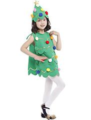 abordables -Árboles de Navidad Vestidos Chica Niños Fiesta de disfraces Navidad Navidad Poliéster Vestido / Sombrero