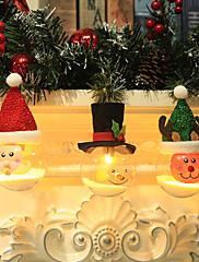 abordables -3 piezas bombilla led lámpara colgante de navidad suspensión luz decoración adornos de árbol de navidad santa claus muñeco de nieve reno