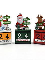 abordables -Árbol de Navidad Juguetes de Navidad Calendario de adviento Papá Noel Fieltro Navidad Caja de Regalo