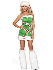 abordables -Árboles de Navidad Vestidos Mujer Adulto Fiesta de disfraces Navidad Navidad Terciopelo Vestido / Sombrero