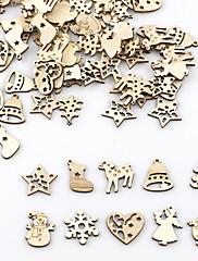 abordables -adornos de madera 100 navidad